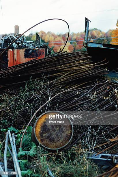 A coil of cable in a scrapyard October 1959