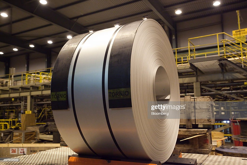 A Coil Of Rolled Steel Sits Before Distribution Inside Outokumpu News Photo Getty Images