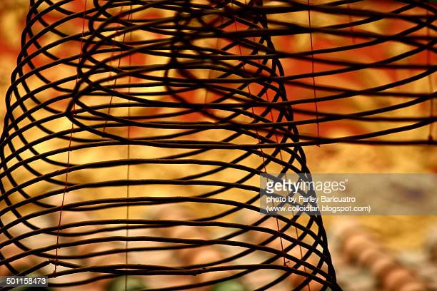 coiled abstraction - incense coils stock pictures, royalty-free photos & images