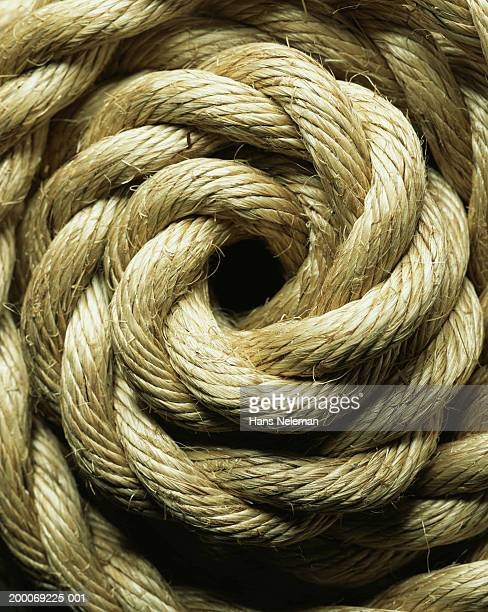 Coiled braided rope, detail