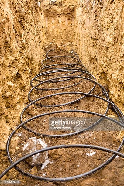 Coiled Geothermal Pipe in an Underground Trench