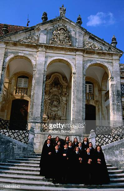 Coimbra University graduating class of 2002. The university on Via Latina was re-established by Joao III in 1537.