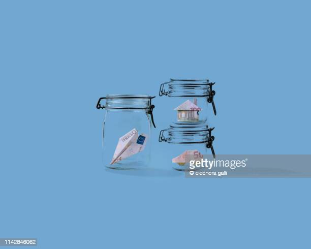 coin banks - bank icon stock photos and pictures