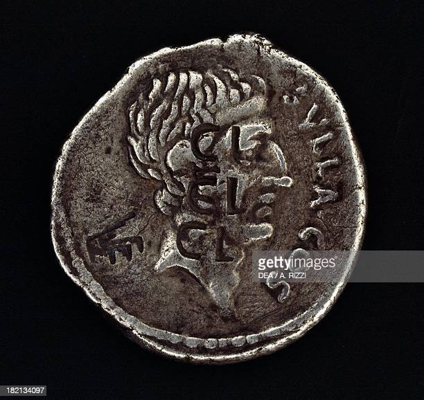 Coin bearing the head of Sulla verso Roman coins 1st century BC