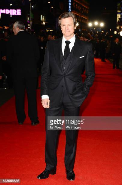 Coin Firth arriving for the premiere of Gambit at the Empire Leicester Square London