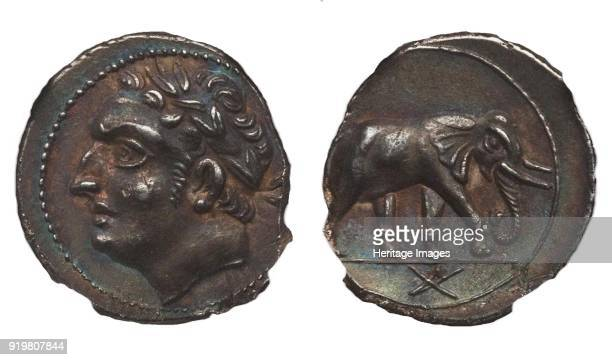 Coin of Hannibal Barca Carthage Obverse Hannibal Reverse