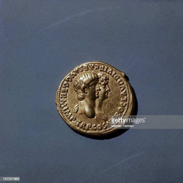 A coin of Nero Shows profiles of Nero and Agrippina Unlike on coins from the previous year the image and titles of Nero take precedence over those of...