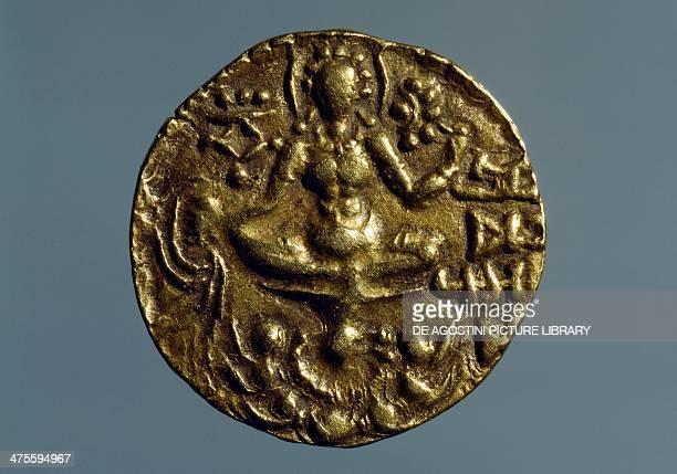Coin of Vikramadytia Chandragupta II depicting Goddess Lakshmi verso Indian coins 4th 5th century Paris Musée Du Cabinet Des Medailles De La...