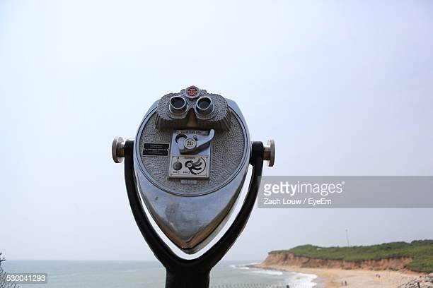 Coin Operated Binoculars Against Clear Sky