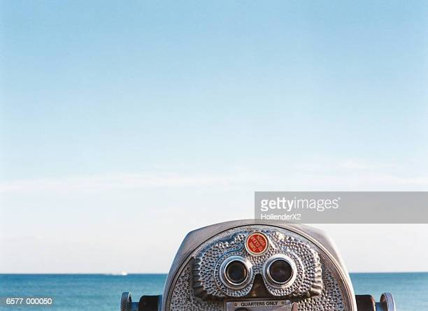 coin operated binoculars - binoculars stock pictures, royalty-free photos & images