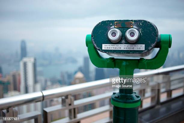 Coin operated binoculars, the peak, hong kong, china