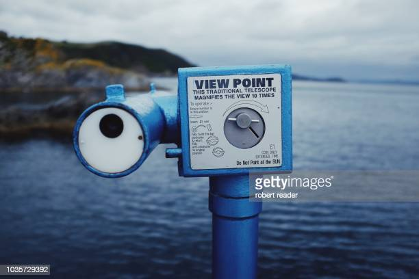 Coin operated view point telescope