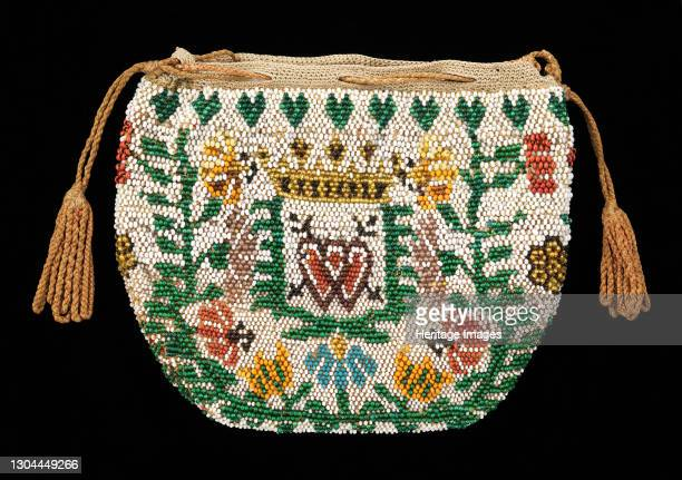 Coin purse, probably British, 1780-1810. Artist Unknown.