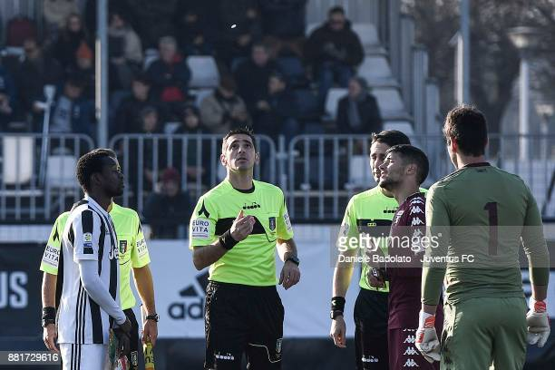 coin toss during the TIM Cup Primavera match between Juventus U19 and Torino FC U19 at Juventus Center Vinovo on November 29 2017 in Vinovo Italy