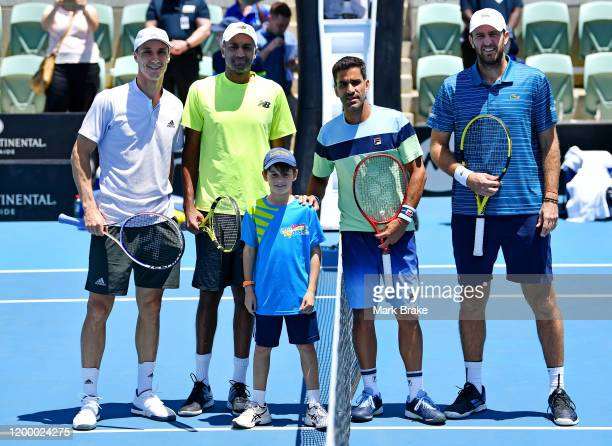 Coin Toss Rajeev Ram of the USA and Joe Salisbury of Great Britain against Maximo Gonzalez of Argentina and Fabrice Martin of France during day six...