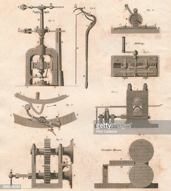 Coining Machines used in the Mint' 1818 After a print by J Farey