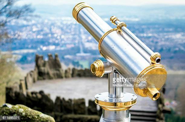 Coin-Operated Binocular Against Landscape