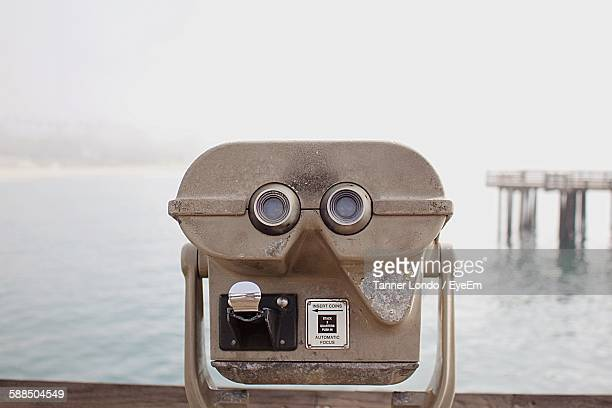 Coin-Operated Binoculars At Seaside