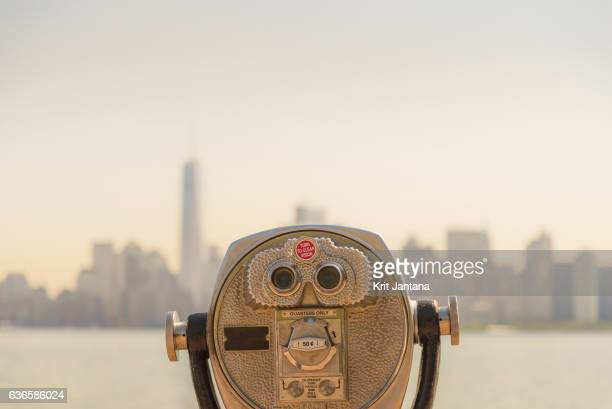 Coin-Operated Binoculars looking to New York City, USA