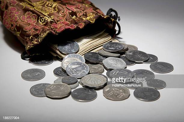 Coins and currency notes