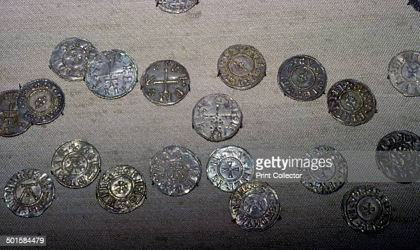Coins from the Cuerdale Hoard mostly English with some from the continent including Hedeby and Kueic coins Found near Rebbes Lancashire in 1840