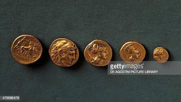 Coins gold found in Taranto Puglia Italy Greek civilisation Taranto Museo Archeologico Nazionale