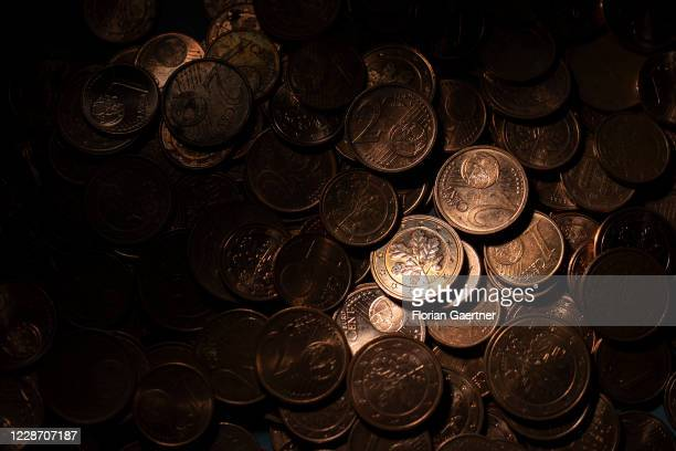 Coins of the currency Euro are pictured on September 25, 2020 in Berlin, Germany.