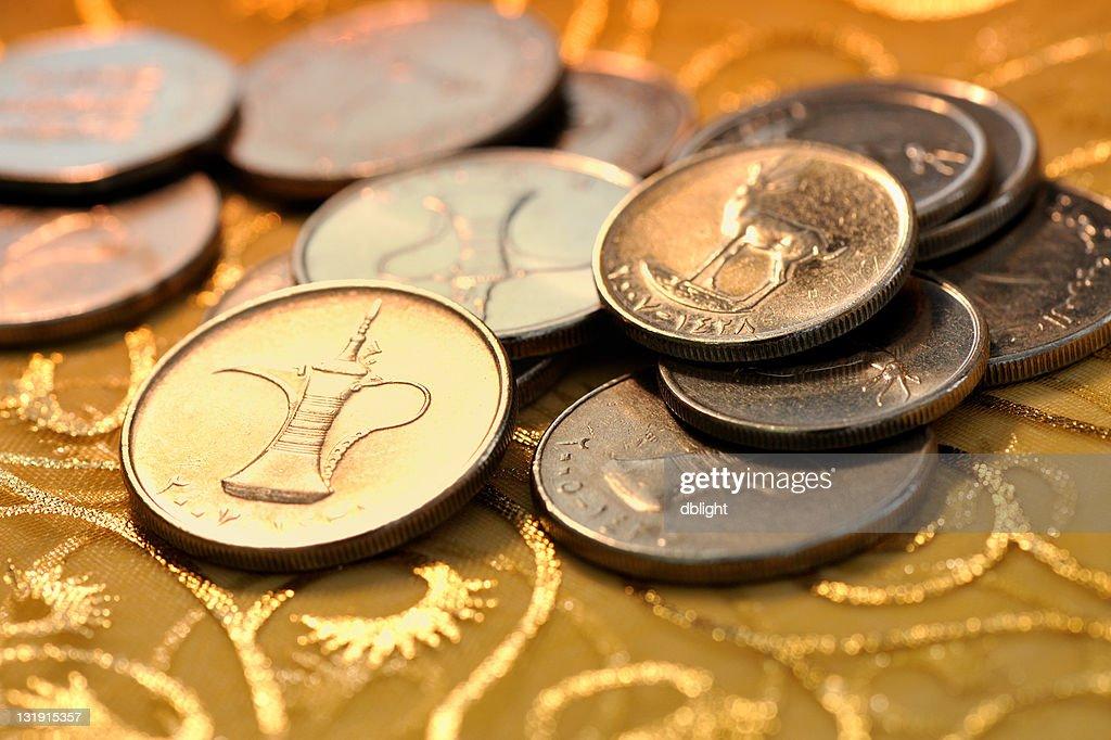 coins of uae : Stock Photo