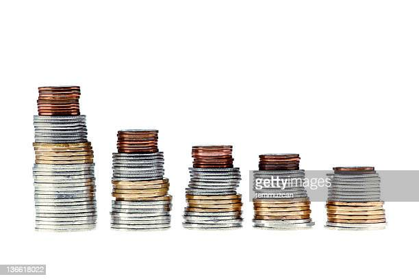 coins - canadian dollars stock pictures, royalty-free photos & images
