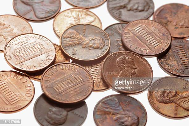 coins - us penny stock pictures, royalty-free photos & images