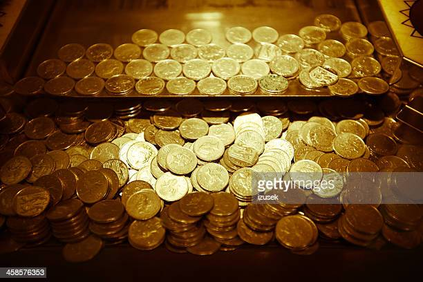 coins - izusek stock pictures, royalty-free photos & images