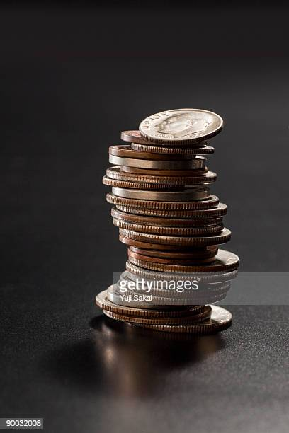 us coins - stack stock pictures, royalty-free photos & images