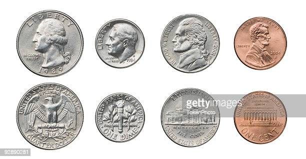 us coins - change stock pictures, royalty-free photos & images