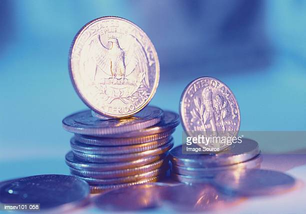 coins - dime stock pictures, royalty-free photos & images