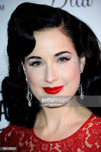 Cointreau Nikki Beach present Dita Von Teese during the 66th Annual Cannes Film Festival at Boulevard de la Croisette on May 20 2013 in Cannes France
