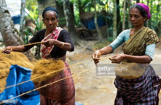 coir rope making - kerala stock pictures, royalty-free photos & images