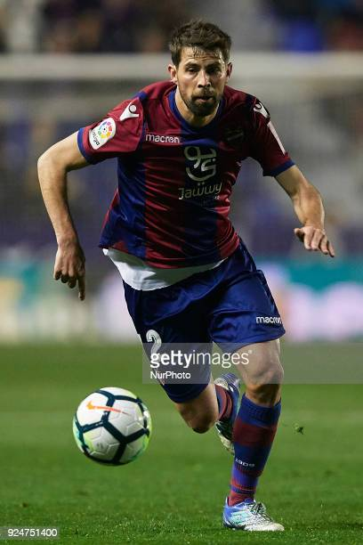 Coke of Levante UD runs with the ball during the La Liga match between Levante UD and Real Betis at Ciutat de Valencia on February 26 2018 in...