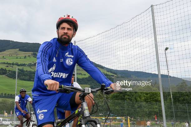 Coke of Schalke controls the ball during the Training Camp of FC Schalke 04 on July 29 2017 in Mittersill Austria