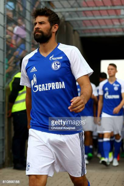 Coke of Schalke is seen prior to the preseason friendly match between SpVgg Erkenschwick and FC Schalke 04 at Stimberg Stadium on July 8 2017 in...