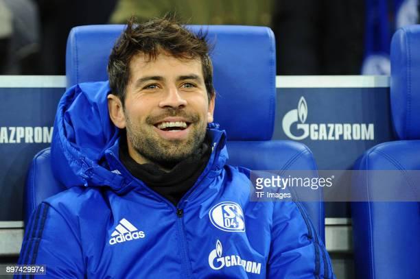 Coke of Schalke laughs prior to the Bundesliga match between FC Schalke 04 and FC Augsburg at VeltinsArena on December 13 2017 in Gelsenkirchen...
