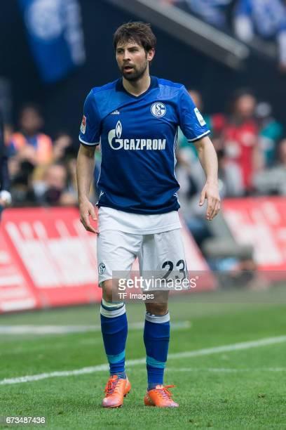 Coke of Schalke looks on during the Bundesliga match between FC Schalke 04 and Borussia Dortmund at VeltinsArena on April 1 2017 in Gelsenkirchen...