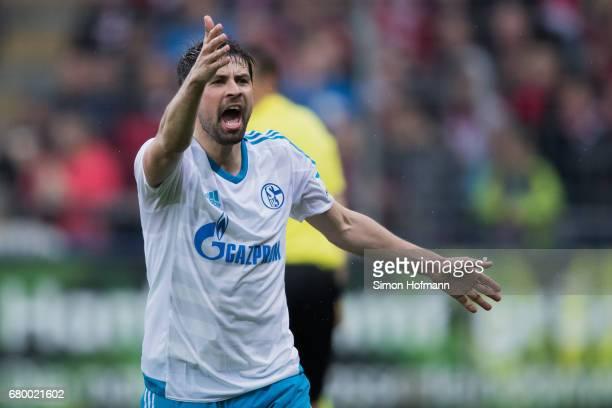 Coke of Schalke reacts during the Bundesliga match between SC Freiburg and FC Schalke 04 at SchwarzwaldStadion on May 7 2017 in Freiburg im Breisgau...