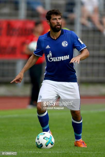 Coke of Schalke runs with the ball during the preseason friendly match between SpVgg Erkenschwick and FC Schalke 04 at Stimberg Stadium on July 8...