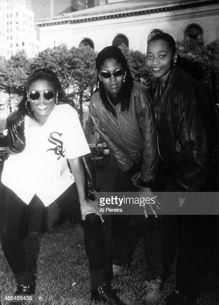 Coko Lelee and Taj of the R and B group 'SWV' aka Sisters With Voices attend an event in March 1993 in New York