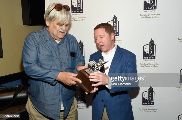 Col Bruce Hampton and President and CEO of the Fox Theatre Allan Vella backstage at 'Hampton 70 A Celebration Of Col Bruce Hampton' at The Fox...