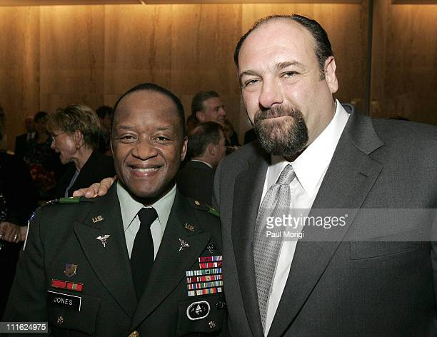 Col Casper Jones and James Gandolfini during HBO Premiers Baghdad ER in Washington DC in Washington DC DC United States