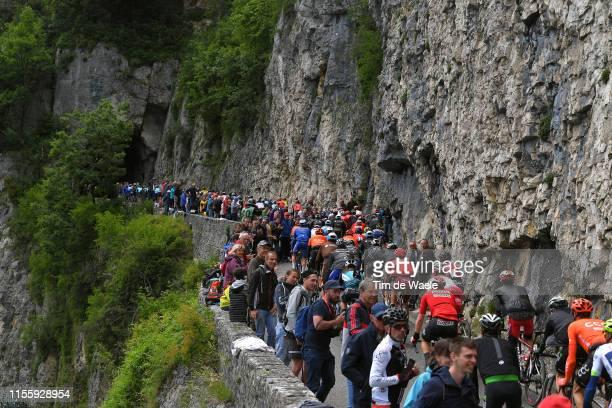 Col De La Chambotte / Fans / Public / Peloton / during the 71st Criterium du Dauphine 2019, Stage 6 a 229km stage from Saint-Vulbas Plaine de l'Ain...