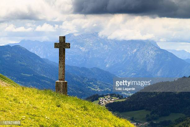 col de la colombiere in the alps - lagarde stock photos and pictures