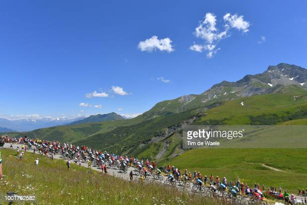Col De La Madeleine / Landscape / Peloton / Mountains / Snow / Fans / Public / during the 105th Tour de France 2018, Stage 12 a 175,5km stage from...