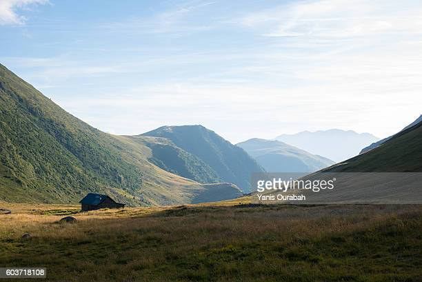 col de la sarenne : french alps landscapes in summer - isere stock pictures, royalty-free photos & images